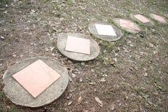 Passage couvert en pierre Image libre de droits