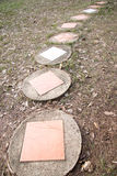 Passage couvert en pierre Image stock