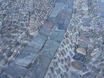 Passage couvert en pierre Images libres de droits