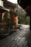 Passage couvert en pierre dans la ville antique chinoise Image libre de droits