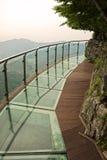 Passage couvert en verre sur la montagne de Tianmen, province de Hunan Chine Photo libre de droits