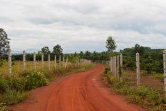 Passage couvert enroulant sa voie par un jardin tranquille Photos libres de droits