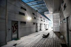 Passage couvert moderne dans l'hôtel Image libre de droits