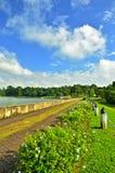 Passage couvert, Pierce Reservoir inférieur, Singapour Photo libre de droits