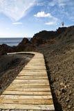Passage couvert vers la mer Photographie stock libre de droits
