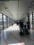 Passage d'éclat dans l'aéroport de Francfort Photo libre de droits