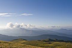 Passage d'Ak-Kaya de montagnes d'Altai Image stock
