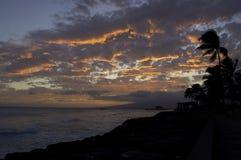 Passage d'approvisionnement de soirée de Molokai Photo stock