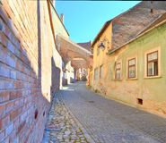 Passage d'escaliers - Sibiu Photo stock
