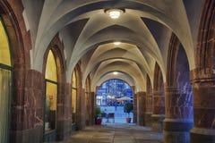 Passage dans la vieille partie de Leipzig Photos stock