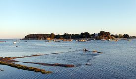 Saint Léonard channel in the Morbihan gulf Stock Photography