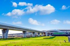 Passage de métro par l'aéroport dans la porcelaine de Pékin Images libres de droits