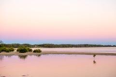 Passage de marée sur le crépuscule Photos libres de droits