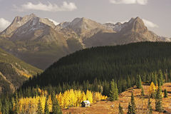 Passage de Molass, Rio Grande National Forest, le Colorado Image libre de droits