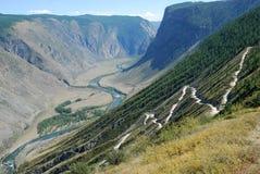 Passage de montagne Photos libres de droits