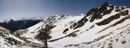 Passage de montagne dans Arkhyz. Photographie stock libre de droits