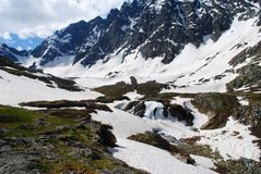 Passage de montagne dans la République d'Altai Photo libre de droits