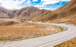 Passage de montagne de désert du Nouvelle-Zélande images stock