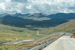 Passage de montagne noir au Lesotho Images stock