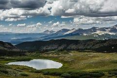 Passage de peuplier, ligne de partage des eaux du Colorado images libres de droits