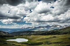 Passage de peuplier, ligne de partage des eaux du Colorado Photo stock