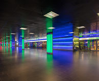 Passage de ShopVille de la gare ferroviaire de canalisation de Zurich Photos stock
