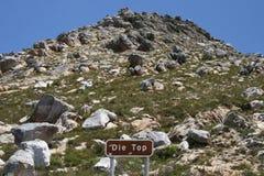 Passage de Swartberg, le sommet Images stock