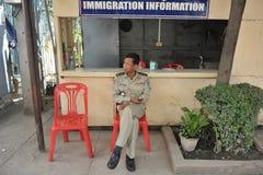 Passage des frontières Photos stock