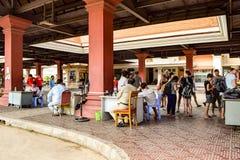 Passage des frontières du Cambodge/du Vietnam images stock