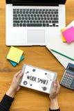 Passage efficace productif futé fonctionnant de développement de croissance de travail Photos stock