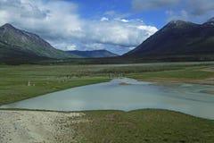 Passage et artère blancs de Yukon photo stock
