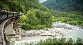 Passage et chemin de fer blancs de Yukon, Skagway, Alaska photo stock