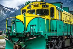 Passage et chemin de fer blancs de Yukon, Skagway, Alaska images stock