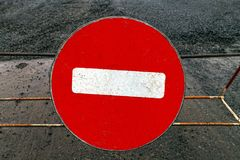 Passage is forbidden. Pass is not allowed round sign Royalty Free Stock Images