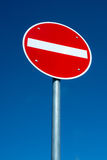 Passage forbidden traffic sign Stock Images