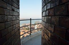 Passage on  Gardoš Tower Royalty Free Stock Images