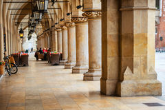 Passage of the gothic hall with columns Royalty Free Stock Images