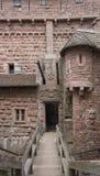 Passage in the Haut-Koenigsbourg Castle Stock Photography
