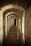 Passage in het kasteel Stock Afbeeldingen