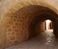 Passage in het klooster van St Catherine, Sinai Stock Foto