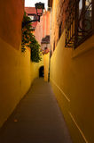 Passage i staden Arkivbild