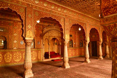 Passage in an indian rajput palace. Passage in a palace bikaner rajasthan india Royalty Free Stock Images