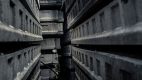 Passage inside a maze of concrete Royalty Free Stock Photo