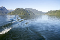 Passage intérieur des fjords chiliens Photo stock
