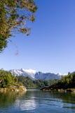 Passage intérieur des fjords chiliens Photographie stock