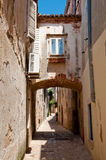Passage on Krk old town streets -Croatia stock photography