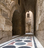 The passage leading to the Courtyard of Sultaan Qalawun Mosque. Cairo, Egypt - November 19, 2016: The passage leading to the Courtyard of Sultaan Qalawun mosque Royalty Free Stock Image