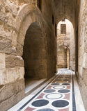 The passage leading to the Courtyard of Sultaan Qalawun Mosque Stock Images