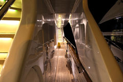 Passage of Luxury Yacht. Passage Deck with stairs in Luxury Yacht Royalty Free Stock Image
