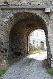 Passage in the medieval boundary wall Royalty Free Stock Photography
